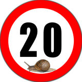 Speed limit. Royalty Free Stock Photos