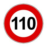Speed limit signs of 110 km - vector. Speed limit signs of 110 km - stock vector stock illustration