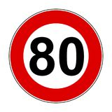 Speed limit signs of 80 km - vector. Speed limit signs of 80 km - stock vector Stock Illustration