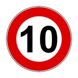Speed limit signs of 10 km - vector. Speed limit signs of 10 km - stock vector vector illustration