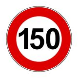 Speed limit signs of 150 km - vector. Speed limit signs of 150 km - stock vector Royalty Free Stock Images