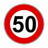Speed limit signs of 50 km - vector. Speed limit signs of 50 km - stock vector Stock Images