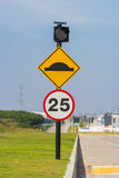 Speed limit sing with bumb Stock Image