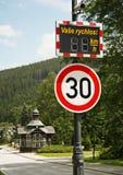 Speed limit. Speet limit 30 kilometers per hour Stock Photo