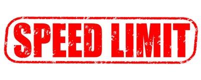 Speed limit stamp on white background. Speed limit stamp isolated on white background Stock Photo