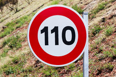 Speed limit traffic sign Stock Photos