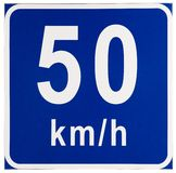 Speed Limit traffic sign Royalty Free Stock Image