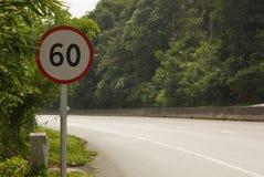Speed limit traffic sign Stock Photos