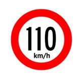 Speed limit traffic sign 110. Illustration royalty free illustration