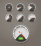 Speed limit web icons Royalty Free Stock Images