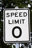 Speed Limit Zero Sign Stock Photography
