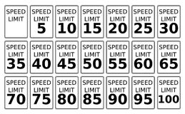Speed Limits Royalty Free Stock Images