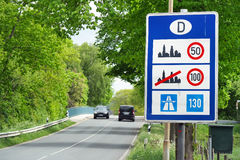 Speed limits in Germany Stock Images