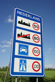 Speed limits in The Netherlands Royalty Free Stock Images