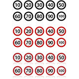 Speed limits Stock Images