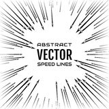 Speed line of arrows on white background. Festive illustration with effect power explosion. Element of design. Vector Royalty Free Stock Photography
