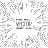Speed line of gray arrows on white background. Festive illustration with effect power explosion. Element of design Royalty Free Stock Image