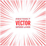 Speed line of red arrows on white background. Festive illustration with effect power explosion. Element of design Stock Photo