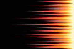 Speed lines on black. Background. Abstract lights horizontal motion. Stripes fire. Vector illustration for web design banner or print Stock Photography