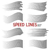 Speed lines isolated set. royalty free illustration