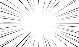 Speed lines. Radial speed lines for comic books. Explosion background.Vector illustration Royalty Free Stock Photos