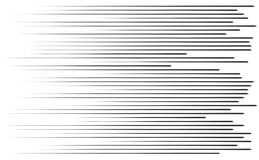 Speed lines. In black color for comic and many other    purposes Stock Photo