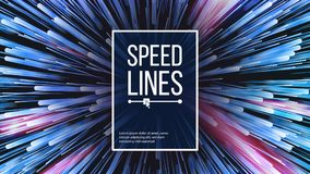 Speed Lines Vector. Explosion Effect. Space Background. Glowing Rays Composition. Illustration. Abstract Speed Lines Vector. Motion Effect. Motion Background Stock Photo