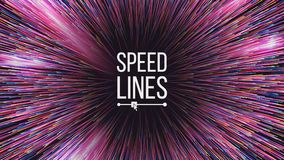 Abstract Speed Lines Vector. Motion Effect. Motion Background. Glowing Neon Composition. Illustration. Speed Lines Vector. Starburst Effect. Burst Background royalty free illustration