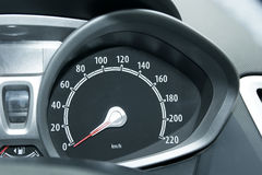 Speed meter. Close up of car speed meter royalty free stock images