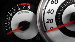 Speed meter. Fast, car, begin royalty free stock photo
