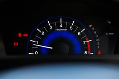A speed meter is gauge that measures and displays,Car dashboard display Stock Photos