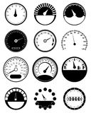 Speed meter icons set Stock Photo