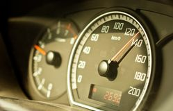 Speed Meter Of A Car Royalty Free Stock Photo