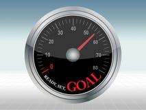 Speed meter Ready Set Goal Stock Image