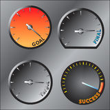 The speed meter of success Royalty Free Stock Photo
