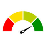 Speed meter vector icon. On white background Royalty Free Stock Image