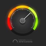 Speed Meter Vector. Speed, power and / or fuel gauge meter. Vector illustration Stock Images