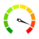 Speed metering arrow vector icon Royalty Free Stock Photography