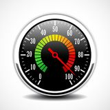Speed metering tester vector icon. Speed metering dial face vector icon Stock Image