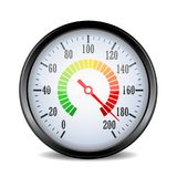 Speed metering dial plate vector illustration. On white background Royalty Free Stock Photos