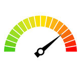 Speed metering dial vector icon. On white background Royalty Free Stock Images