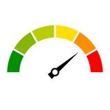 Speed metering vector icon. Isolated on white background Royalty Free Stock Photography