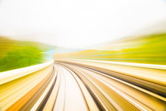 Speed motion in urban highway road tunnel royalty free stock photos