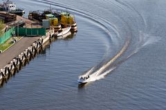 Speed motor boat Royalty Free Stock Photo