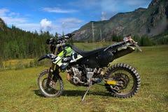 Speed mountain bike in the Altai Mountains. Sammer Stock Photo