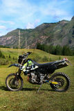 Speed mountain bike in the Altai Mountains. Sammer Stock Image