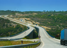 Speed mountain highway in Portugal Stock Image