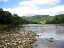Speed mountainous river in Carpathian mountains Stock Images