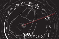 Speed mouse Royalty Free Stock Photos