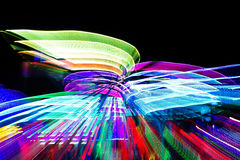 Speed of neon light Royalty Free Stock Image